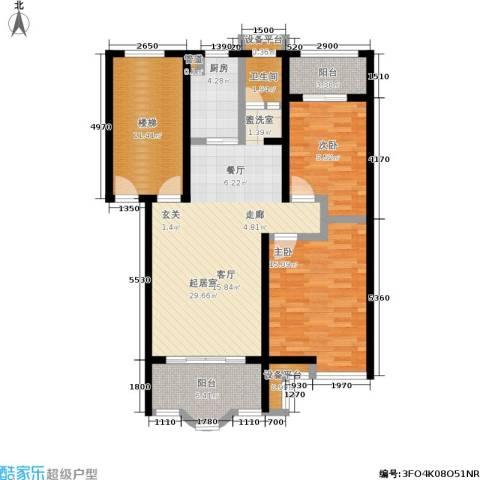 水木兰庭2室0厅1卫1厨97.88㎡户型图