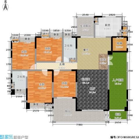 归心苑4室0厅2卫1厨189.00㎡户型图