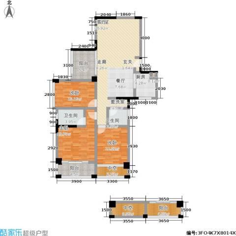 星蓝湾3室0厅2卫1厨103.83㎡户型图