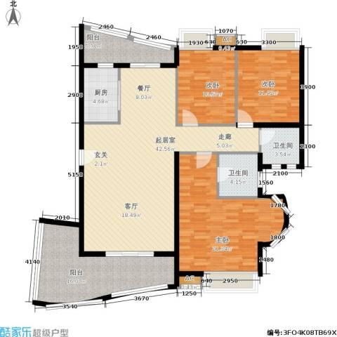 汉水熙园3室0厅2卫1厨141.00㎡户型图