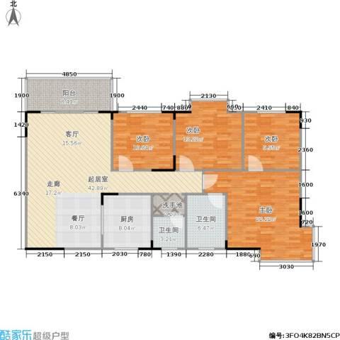 上林国际4室0厅2卫1厨134.07㎡户型图
