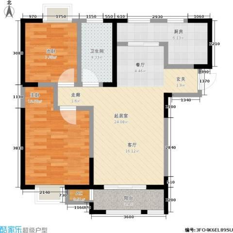 朗钜天域2室0厅1卫1厨84.00㎡户型图