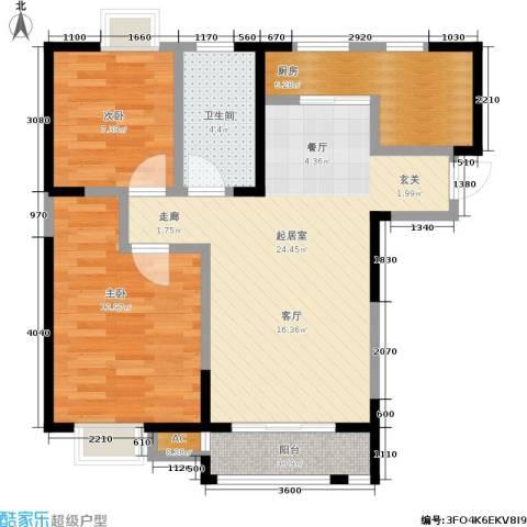 朗钜天域2室0厅1卫1厨85.00㎡户型图