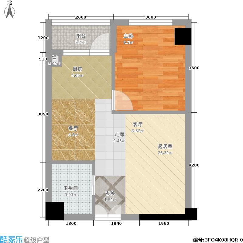 山水庭院51.65㎡c1户型