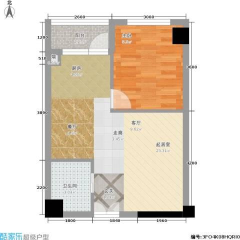 山水庭院1室0厅1卫0厨52.00㎡户型图