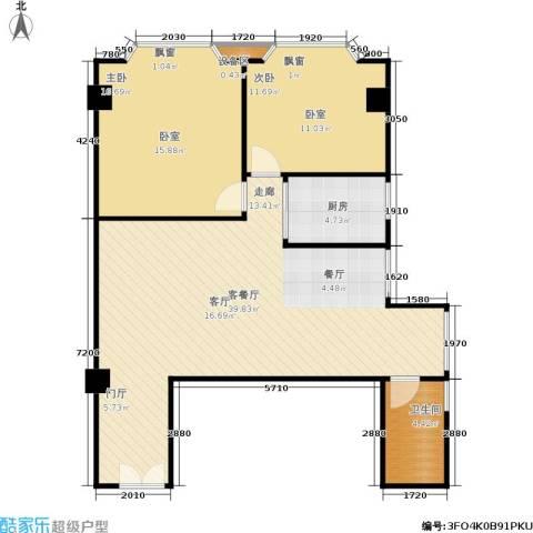 阳光星座2室1厅1卫1厨77.78㎡户型图