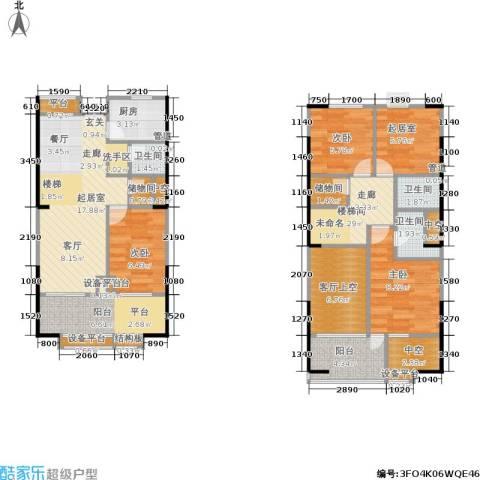 紫薇尚层3室0厅3卫1厨94.00㎡户型图