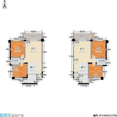 中江国际花城4室0厅2卫2厨140.51㎡户型图