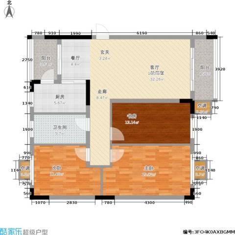 大运家园3室0厅1卫1厨106.00㎡户型图