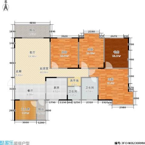 上林国际4室0厅2卫1厨159.64㎡户型图