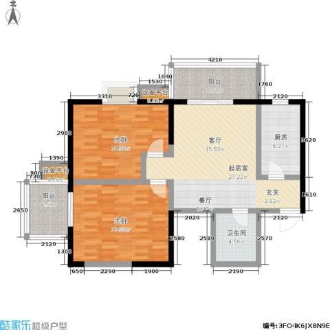 爱菊佳园2室0厅1卫1厨87.00㎡户型图