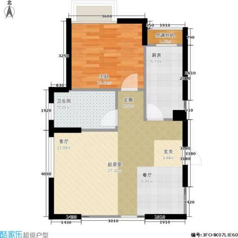 枫林意树1室0厅1卫1厨101.00㎡户型图