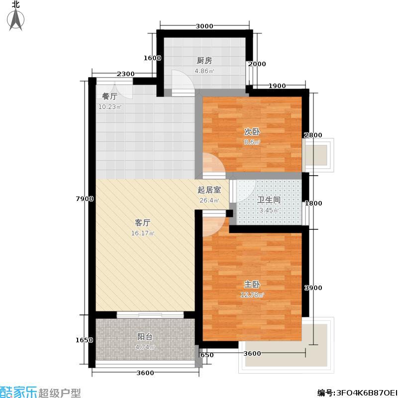 勤诚达雅阁国际8# 三-十八层平面图 A1(84m2) 84㎡户型