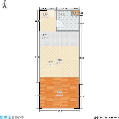 人瑞潇湘国际1卫0厨56.00㎡户型图