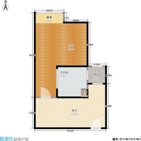 天赐良园1室1厅1卫0厨42.00㎡户型图