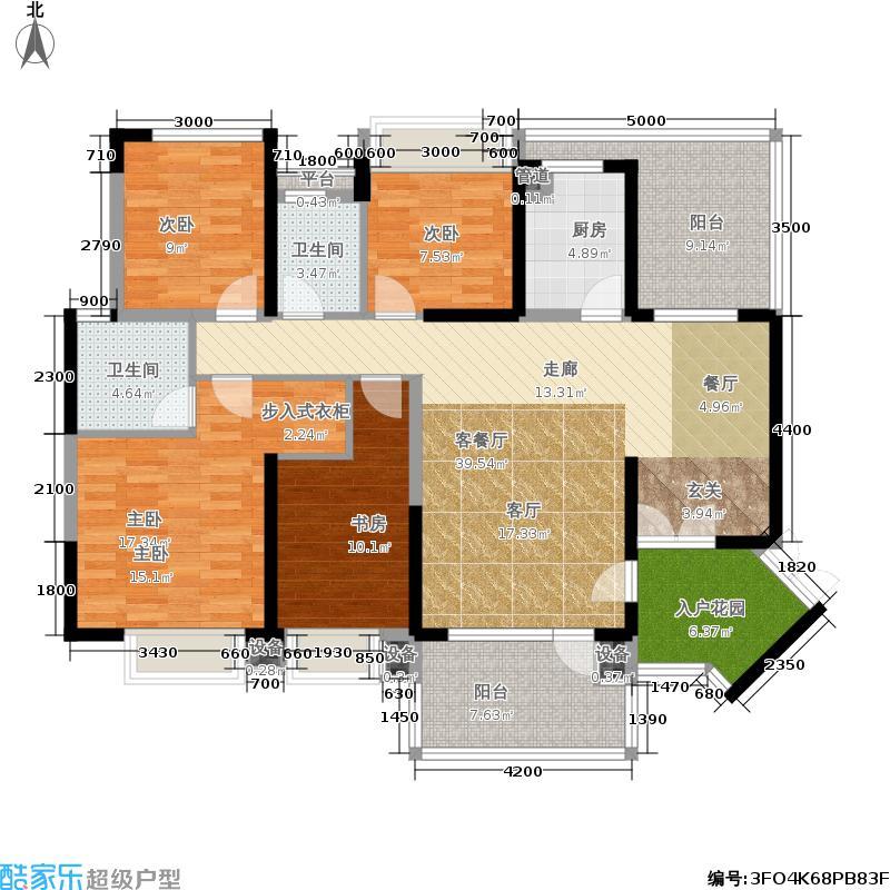 绿景公馆1866135.00㎡绿景公馆1866户型图建筑面积约:135平米(8/12张)户型4室2厅2卫