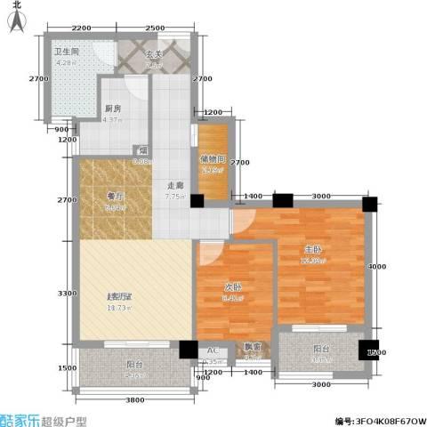 山水庭院2室0厅1卫1厨94.00㎡户型图