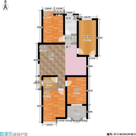水木兰庭3室0厅1卫1厨101.23㎡户型图