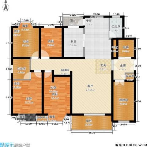 都江新城4室0厅2卫1厨187.00㎡户型图