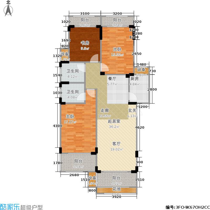 幸福考拉116.86㎡3房2厅2卫户型3室2厅2卫
