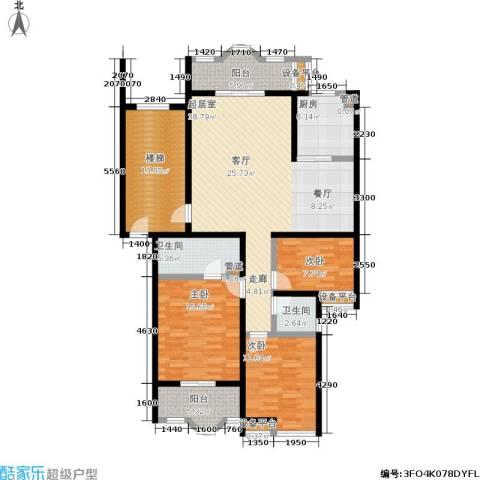 水木兰庭3室0厅2卫1厨133.69㎡户型图