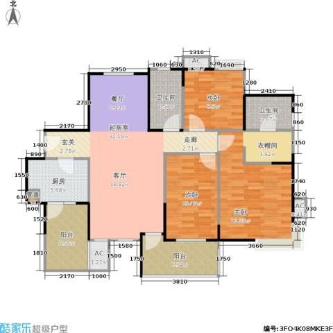 曲江城市花园3室0厅2卫1厨103.00㎡户型图