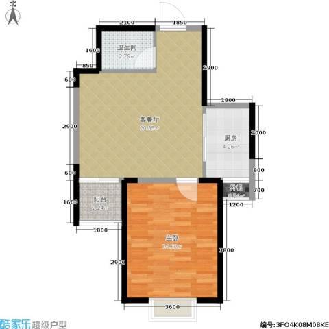 绿地世纪城1室1厅1卫1厨54.00㎡户型图