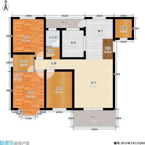 都江新城3室0厅2卫1厨141.00㎡户型图