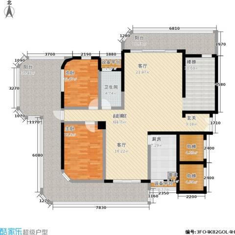 岳麓1号2室0厅1卫1厨227.00㎡户型图