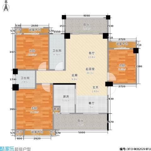 三景国际3室0厅2卫1厨113.00㎡户型图