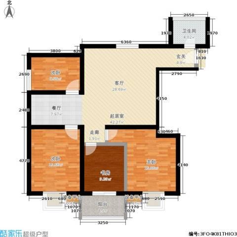 万华园琳苑小区4室0厅1卫0厨118.00㎡户型图
