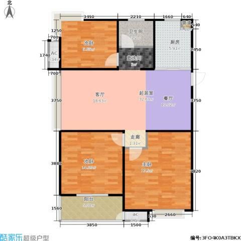 东方福郡3室0厅1卫1厨106.00㎡户型图
