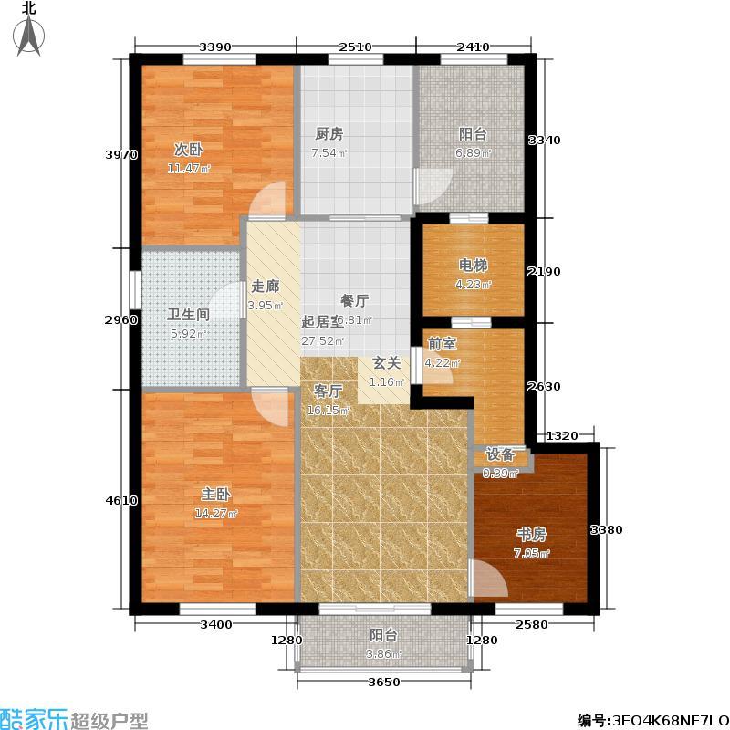 益嘉广场120.54㎡益嘉广场户型图6号楼G户型三室两厅(2/6张)户型10室