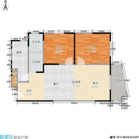 公园20462室0厅1卫1厨73.32㎡户型图