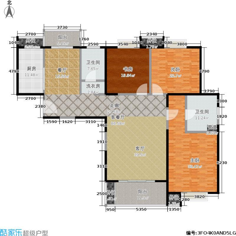 绿地世纪城户型3室1厅2卫1厨