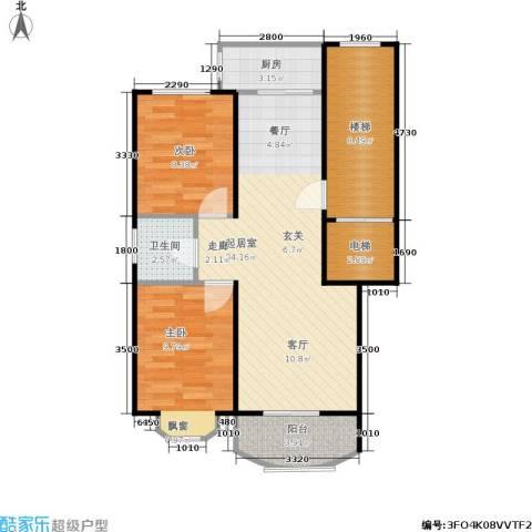 百花园2室0厅1卫1厨68.00㎡户型图