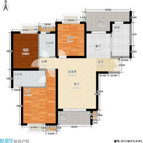 紫薇希望城3室0厅2卫1厨126.00㎡户型图