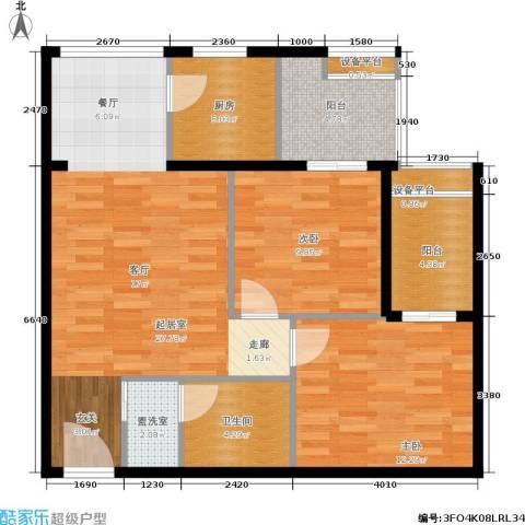 玫瑰坊2室0厅1卫1厨81.00㎡户型图