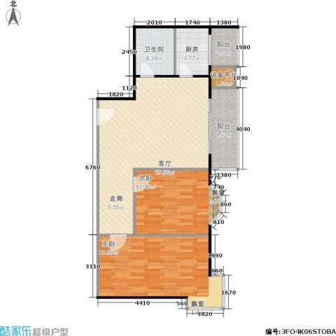 朝阳星苑2室1厅1卫1厨93.00㎡户型图