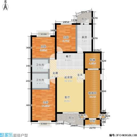 新华联家园3室0厅2卫1厨132.00㎡户型图