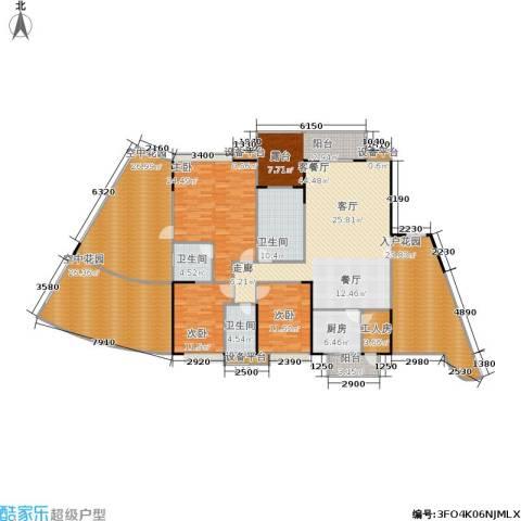 江南华府3室1厅3卫1厨217.24㎡户型图