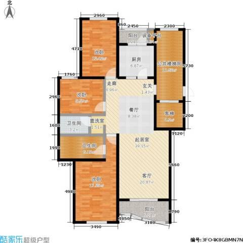 新华联家园3室0厅2卫1厨134.00㎡户型图