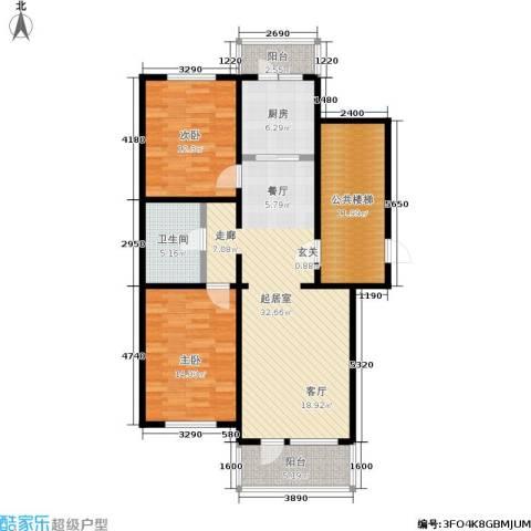 新华联家园2室0厅1卫1厨102.00㎡户型图