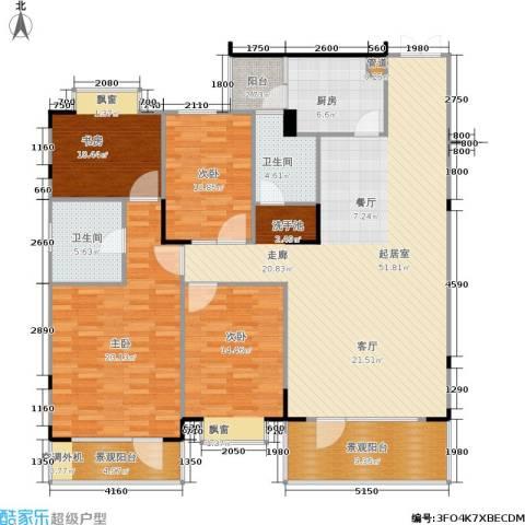 岳麓现代城4室0厅2卫1厨155.00㎡户型图