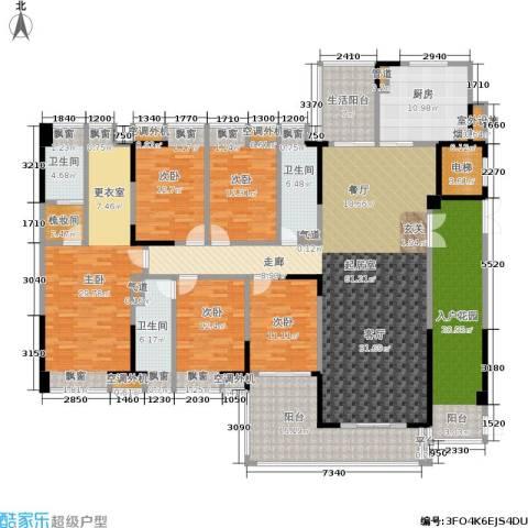 归心苑5室0厅3卫1厨242.00㎡户型图
