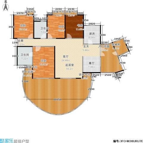 富湾国际4室0厅2卫1厨198.84㎡户型图