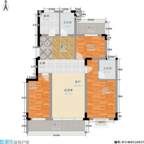 书院观邸3室0厅2卫1厨126.00㎡户型图
