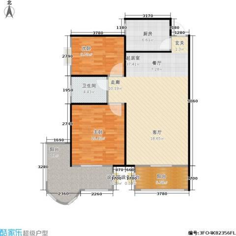 金色比华利2室0厅1卫1厨90.46㎡户型图