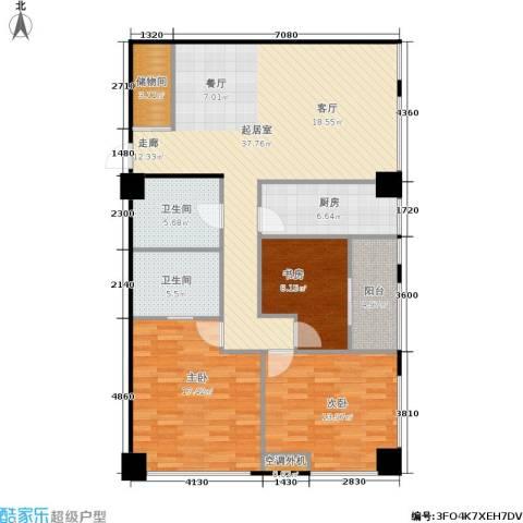 麓谷坐标3室0厅2卫1厨131.00㎡户型图