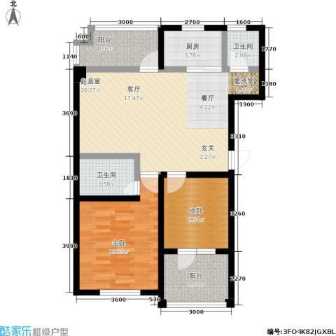 共和世家2室0厅2卫1厨90.00㎡户型图